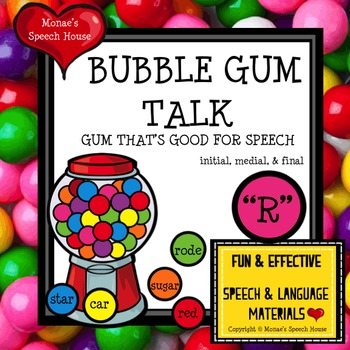 """BUBBLE GUM ARTICULATION SPEECH THERAPY """"R"""""""