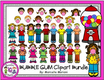 BUBBLE GUM CLIPART GRAPHICS- Commercial & Personal Use