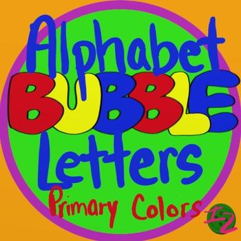 BUBBLE LETTERS - Primary Colors (224 Pages)