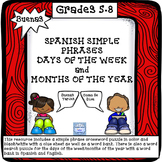 BUENAS: Phrases, Days of the Week,Months of the Year Puzzl