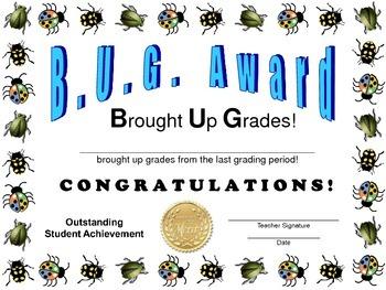 BUG Award Certificate