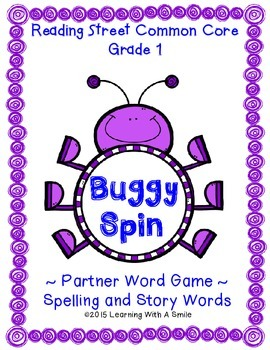 Reading Street First Grade Spelling & Story Words Unit 1-5