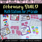BUILD Math Stations for Second Grade February Common Core