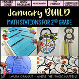 BUILD  January Math Centers for Second Grade Common Core