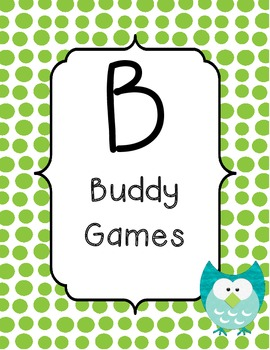 BUILD math station signs owl theme