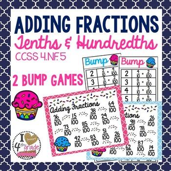 BUMP:  Add Tenths and Hundredths CCSS 4.NF.C.5