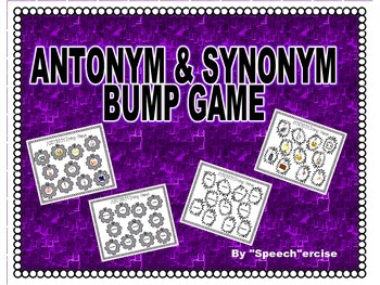 SPEECH THERAPY BUMP GAME for ANTONYMS & SYNONYMS