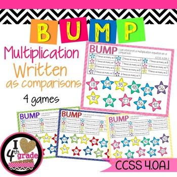 Multiplicative Comparison Equations CCSS 4.OA.1