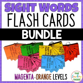 BUNDLE 154 Sight Word Flash Cards for Year One NZ