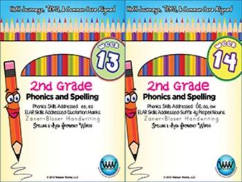 BUNDLE: 2nd Grade Phonics and Spelling Zaner-Bloser (Weeks 13-18)