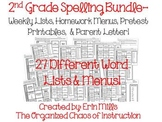 2nd Grade Spelling Choice Boards