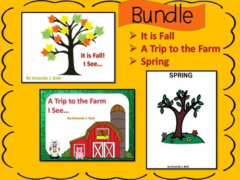 BUNDLE!!!  3 Interactive Books about Fall, Spring, Farms