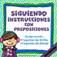 BUNDLE: 4 Following Directions with Prepositions in SPANIS