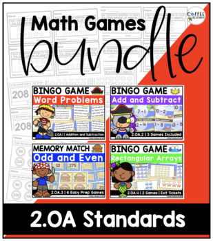 BUNDLE! {ALL 2.OA Standards} BINGO Games, Memory Match, Ex