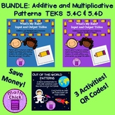 BUNDLE Additive and Multiplicative Patterns 3 activities T
