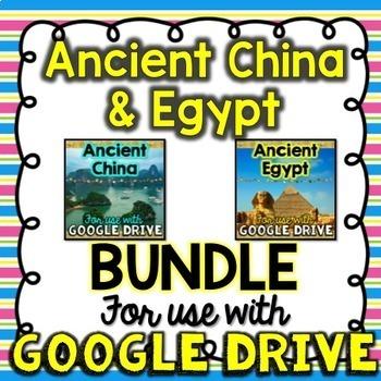BUNDLE Ancient China & Ancient Egypt for Google Drive & Go