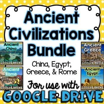 BUNDLE Ancient Civilizations for Google Drive & Google Classrooom
