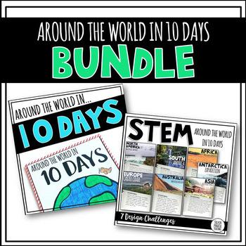 BUNDLE Around the World in 10 Days {STEM & Target Book}