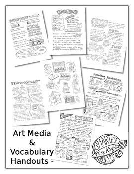 BUNDLE Art Media and Vocabulary Handouts