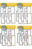 BUNDLE-BRIGHT Half Page Simple Borders 1,2,3,4