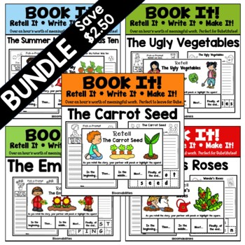 BUNDLED Book It: Retell It, Write It, Make It (Garden Theme)