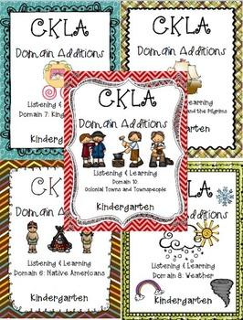 BUNDLE: CKLA Kindergarten Listening and Learning Domains 6-10
