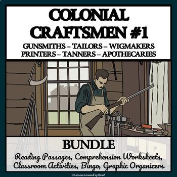 BUNDLE: COLONIAL AMERICAN TRADESMEN AND CRAFTSMEN, Part 1
