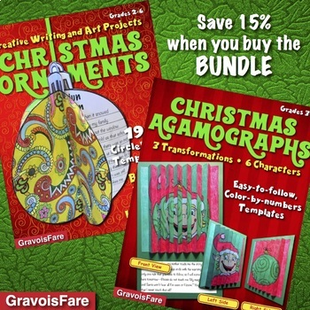 Christmas Crafts and Activities BUNDLE: Ornaments and Agam