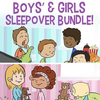 BUNDLE Clip Art Sleepover Set for Girls & Boys | Slumber P