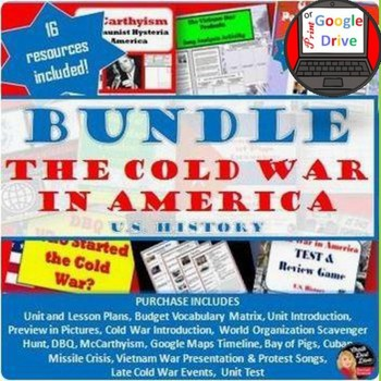 Cold War in America BUNDLE  -16 products included (Common-