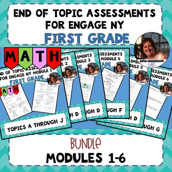 BUNDLE EngageNY End of Topic Assessments First Grade