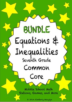 BUNDLE Equations and Inequalities Math Stations for Common