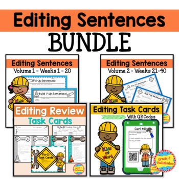 Editing Sentences - BUNDLE for 2nd Grade - 40 Weeks!