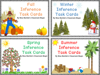 BUNDLE - Four Seasons Inference Task Card Sets