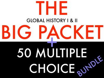 BUNDLE: Global I and Global II Review Packet AND 50 Multip