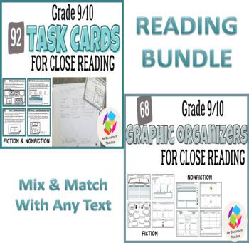 BUNDLE: Grades 9-10 Common Core Reading Graphic Organizers