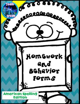 Homework and Behavior Printables, forms: Classroom Managem