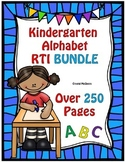 BUNDLE! Huge Kindergarten RTI Alphabet Recognition Pack  2