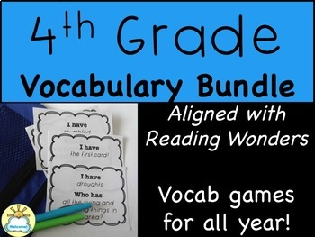 "BUNDLE ""I have who has"" vocab games for EVERY week of 4th"