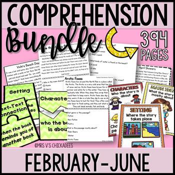 BUNDLE: Kindergarten & First Grade Comprehension for FEBRU