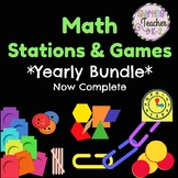 {BUNDLE} Math Stations for the Whole Year - 9 Units and Growing