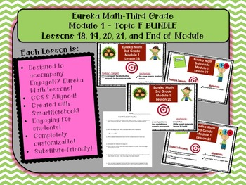 BUNDLE Module 1 Topic F Eureka Math 3rd Grade SmartBoard L