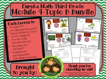 BUNDLE Module 4 Topic B Eureka Math 3rd Grade SmartBoard L