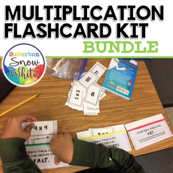 BUNDLE: Multiplication Flashcard Kit 0-10 and 0-12