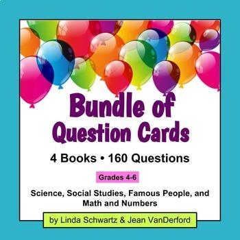 BUNDLE OF 4 QUESTION CARD SETS