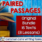 BUNDLE: Paired Passages and Common Core Writing Tasks 16 t
