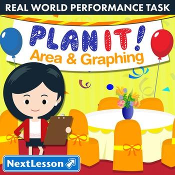 BUNDLE- Performance Task – Area & Graphing – Plan It