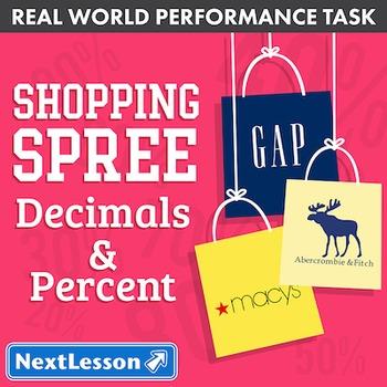 BUNDLE- Performance Task – Decimals & Percent – Shopping Spree