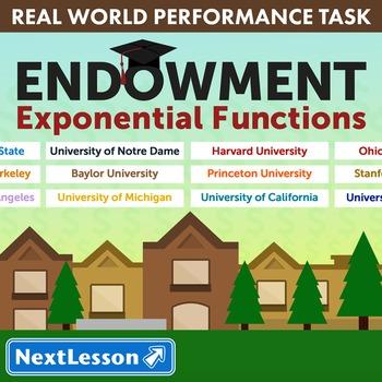 BUNDLE - Performance Task – Exponential Functions – Endowment
