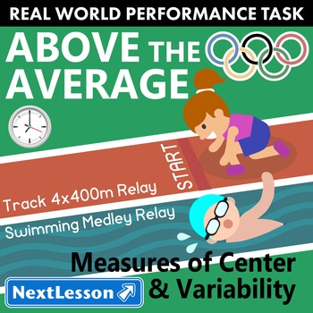 BUNDLE - Performance Task – Measures of Center & Variabili